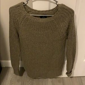 Dark tan thick sweater